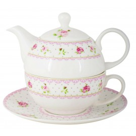 IB Laursen Tea for one Cottage Rose  2499-00